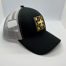 Load image into Gallery viewer, NOLA Low Profile Trucker Hat Black/ White