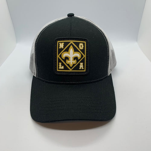 New Orleans Saints Low Profile Trucker Hat Black/White