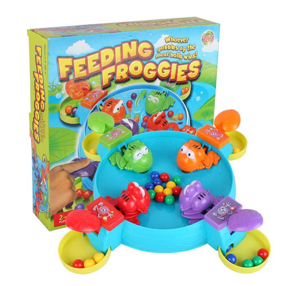 Feeding Frog Game - Feed The Hungry Froggies Before The Other Froggies Eat Up All The Balls Fun Kids 3D Board Game