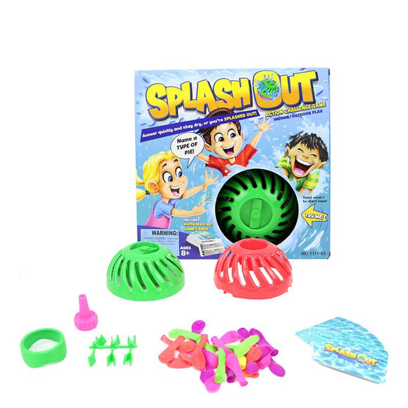 Water Bomb Splash Out Game Water Splash Toys Action Challenge Game Indoor Outdoor Play Cards Game Party Interactive Tricky Toy