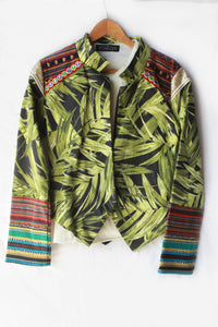 Tropic electra ~ Palm leaf statement Kultcha jacket