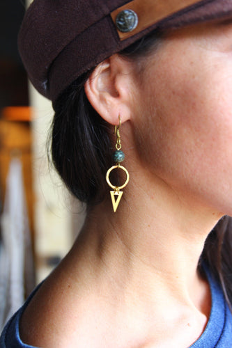Elemental Earring Gold brass