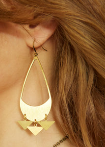 Ethereal Gold earrings