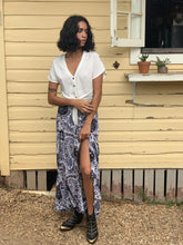 INDIGO BLOOM ~ Print Maxi Skirt