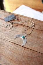 Luna path sterling silver handcrafted pendant necklace