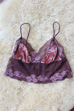 NEW ~ Plum and musk velvet Bralette