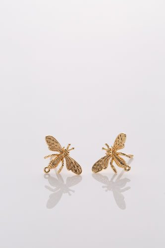 Golden Bee Stud Earrings