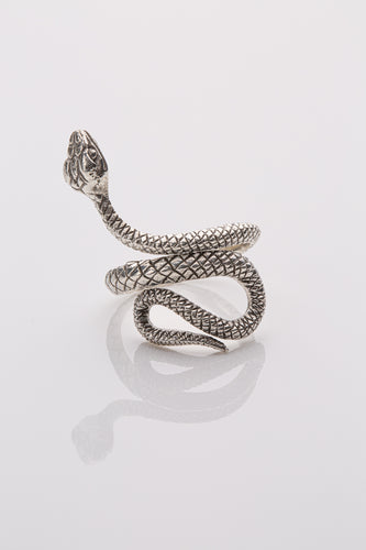 Serpent Ring Sterling Silver