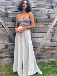 SUMMAH Natural Linen Skirt