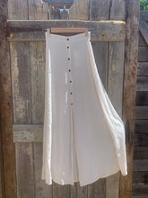 SUMMAH ~ Natural six panel button maxi skirt ~ Natural linen blend