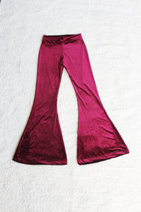 Cherry Velvet flares-Kultcha Collective