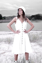 Summah ~ linen button through dress SOFT CREAM WHITE