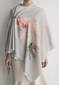 Hand-Painted Linen Shawl