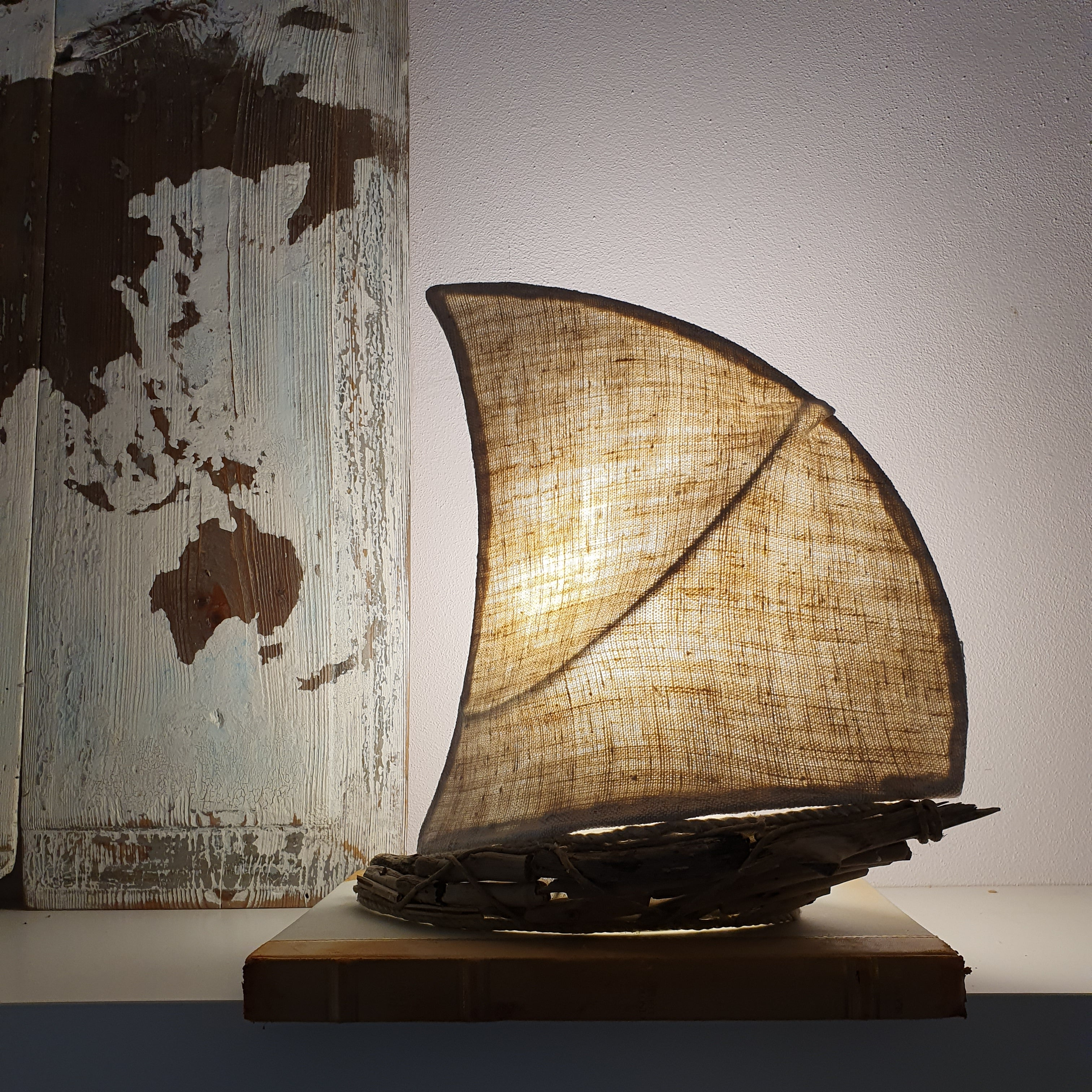Small Sailboat Lamp