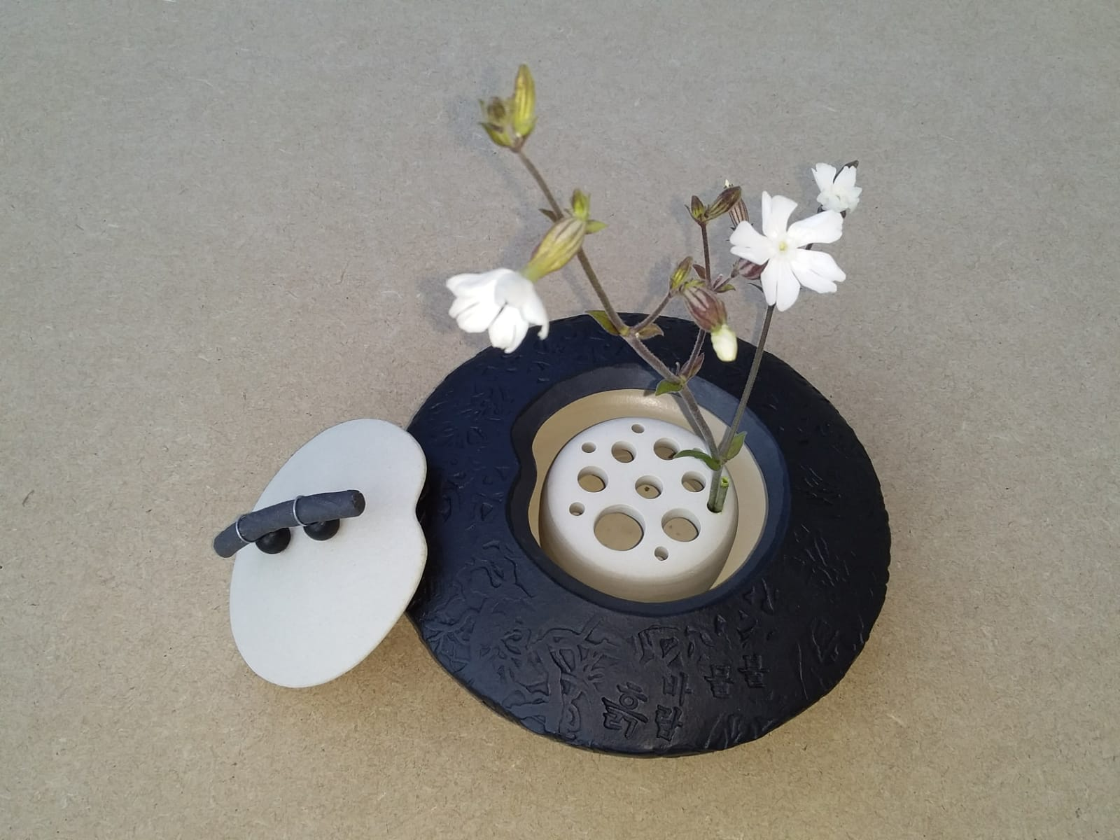 Zen Pottery with Flower Holder