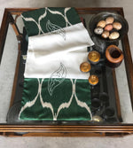 Load image into Gallery viewer, Linen & Silk Ikat Table Runner
