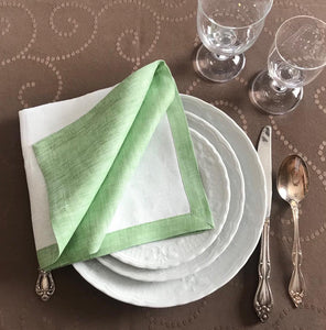 Set of 4 Double-Sided Linen Napkins
