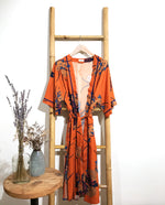 Load image into Gallery viewer, ORIENTAL BRONZE Crepe Kimono