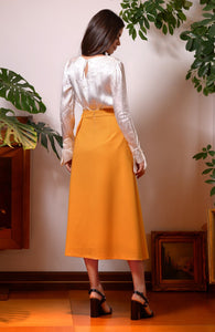 Midi Skirt with Front Panels