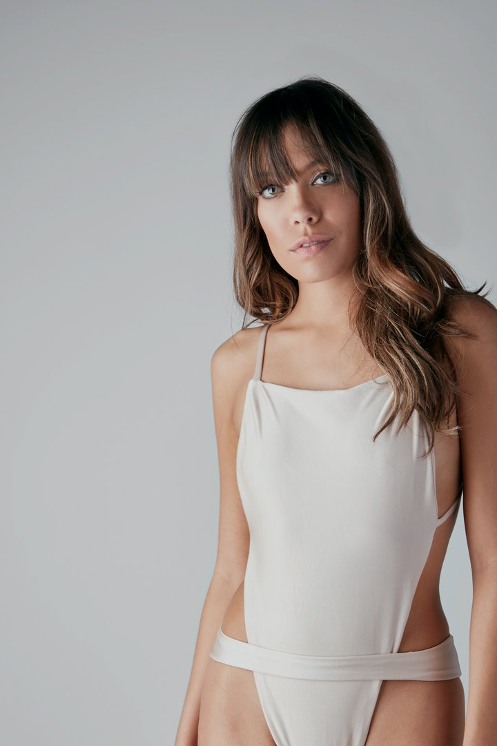 Gold AMINA Open-Back One-Piece