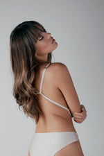 Load image into Gallery viewer, Gold AMINA Open-Back One-Piece
