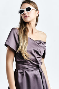Silk-Blend Midi Dress