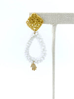 Load image into Gallery viewer, White Crystal Drop Earrings