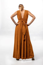 Load image into Gallery viewer, MEG Crepe Silk Maxi Dress