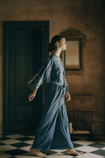 Load image into Gallery viewer, BLUE LAGOON Kimono Dress