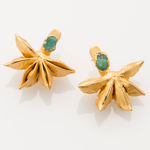 Load image into Gallery viewer, Star Anise Ear Jacket with Raw Emerald
