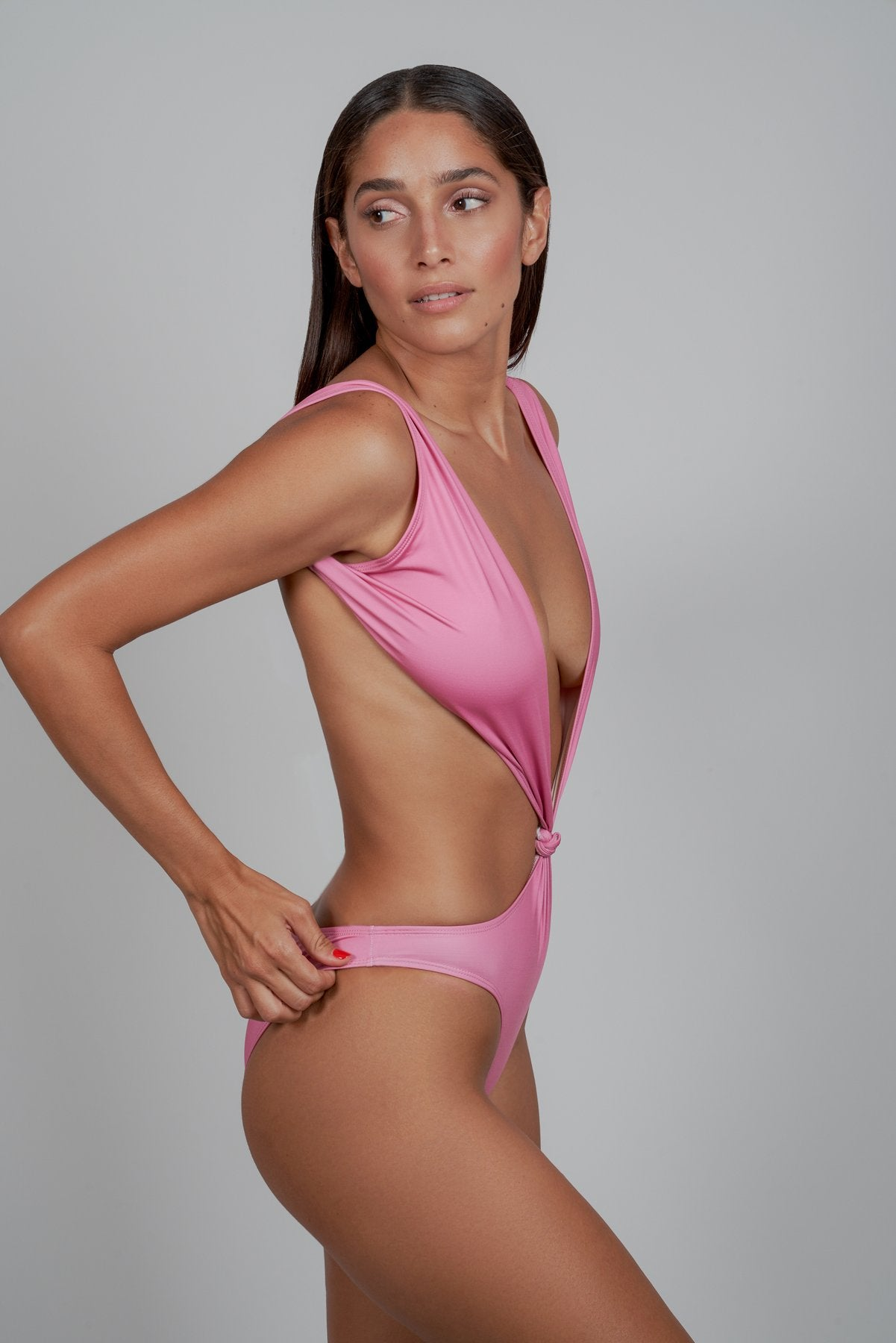 Pink BRASSICA Cut-Out One-Piece