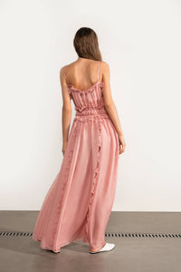 MOONLIGHT IS AN ONLY LIGHT Silk Maxi Dress
