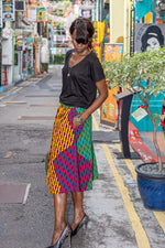 Load image into Gallery viewer, RAPHAELLE Cotton Wax Skirt