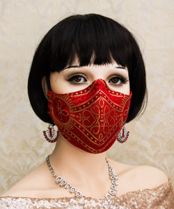 Red Gothic Face Mask