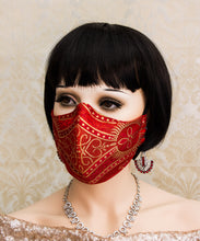 Load image into Gallery viewer, Red Gothic Face Mask