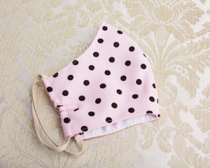 Pink Polka Dot Washable Face Mask