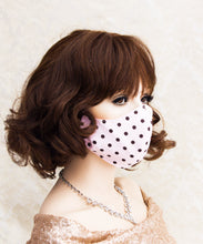 Load image into Gallery viewer, Pink Polka Dot Washable Face Mask