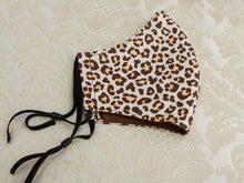 Load image into Gallery viewer, Cheeta Print Cotton Reusable Face Mask