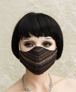 Brown Linen Reusable Face Mask