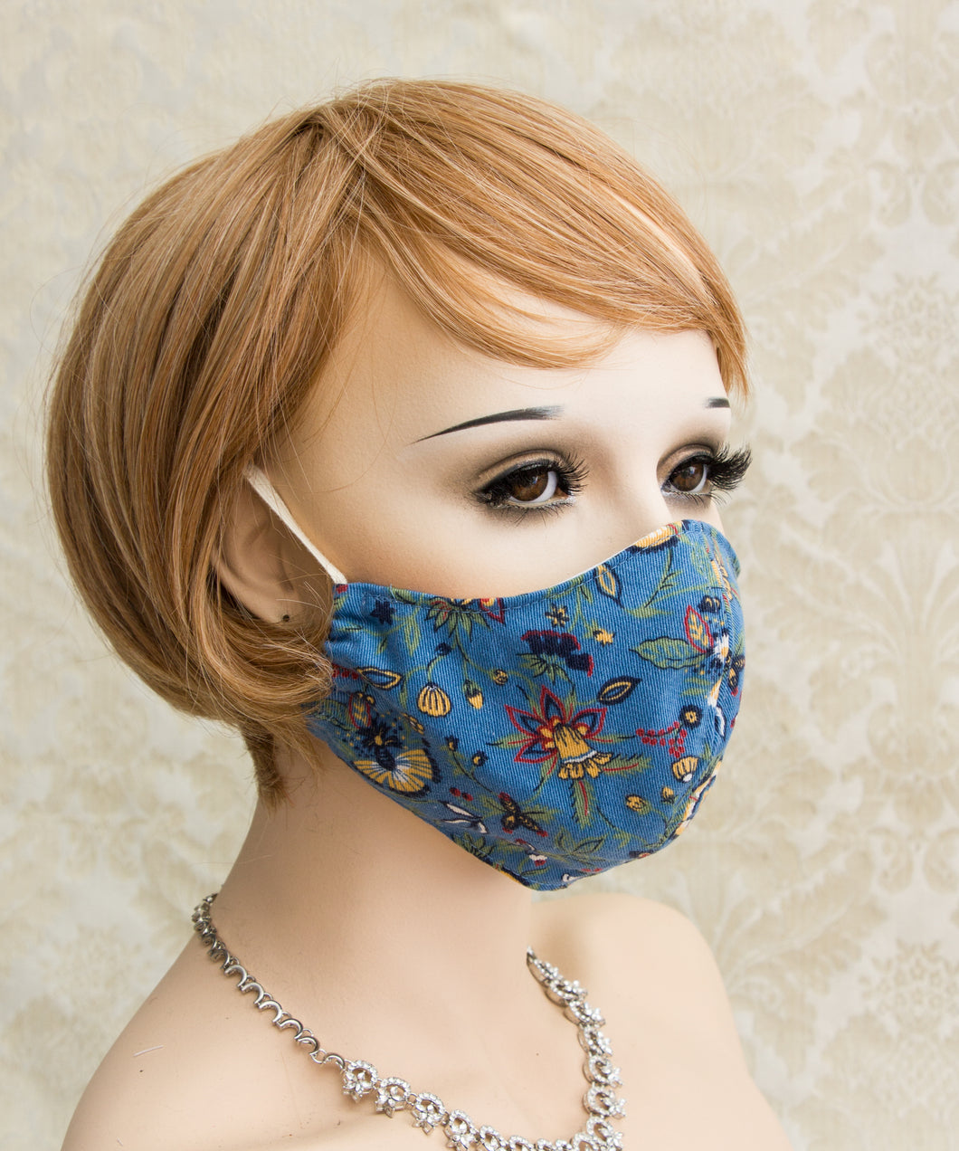 Cute Floral Print Cloth Face Mask
