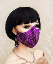 Load image into Gallery viewer, Purple Gothic Face Mask