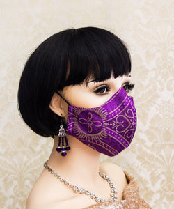 Purple Gothic Face Mask