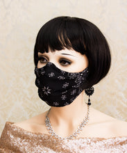 Load image into Gallery viewer, Light and Breathable Black Bandanna Face Mask