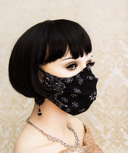 Light and Breathable Black Bandanna Face Mask