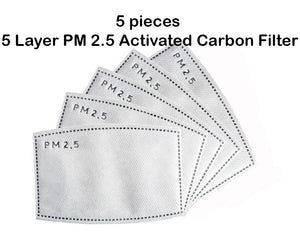 5 pieces PM 2.5 Activated Carbon Filters