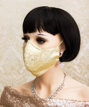 Load image into Gallery viewer, Gold Gothic Face Mask