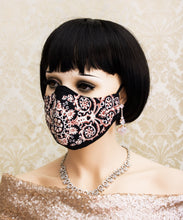 Load image into Gallery viewer, Filigree Print Face Mask