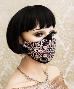 Filigree Print Face Mask