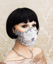 Load image into Gallery viewer, Light and Breathable White Bandanna Face Mask