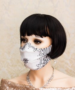 Light and Breathable White Bandanna Face Mask